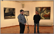 Predrag Yeremitch et Roman Proniaev, vernissage exposition à la «Galerie 73», Belgrade, 2015. Photo - Branco Maricic